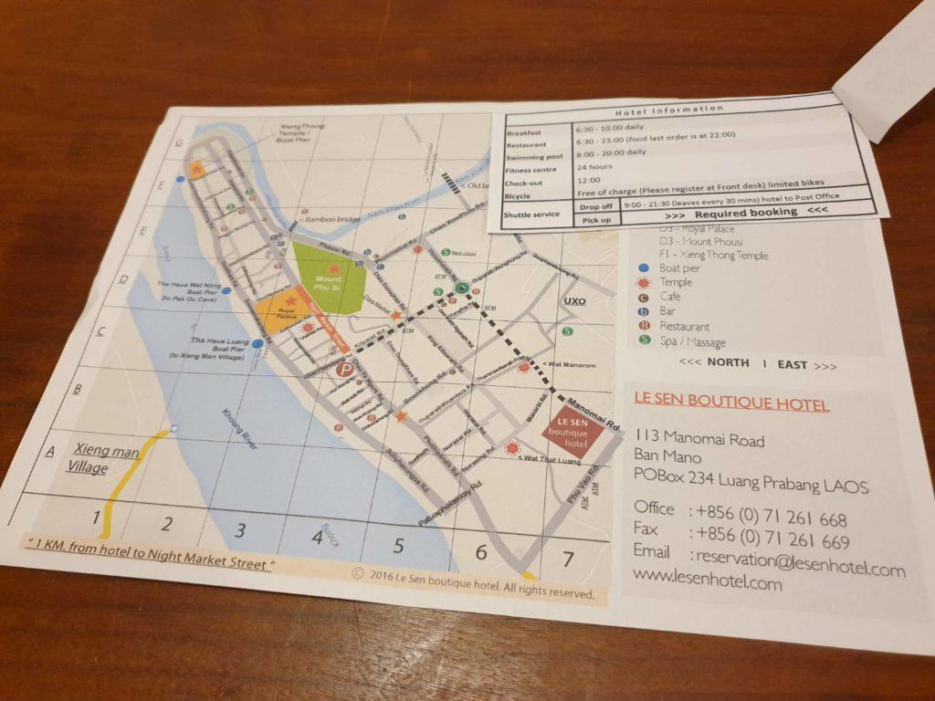 ルアンパバーンの地図